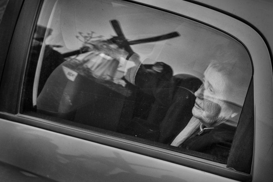 increase contrast of reflection on car; crop tigheter -- no door handle; bring down car some