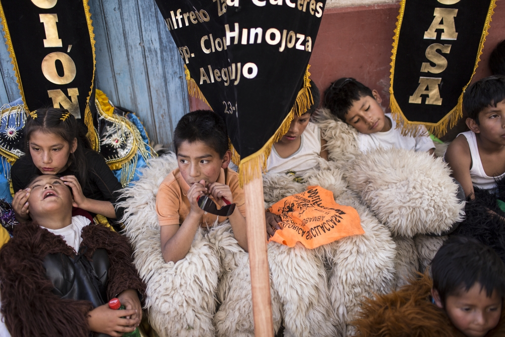 Daily life in the Sacred Valley village of Umbamba, near Pisac in the Cusco region, Peru, on Sunday, May 24, 2015