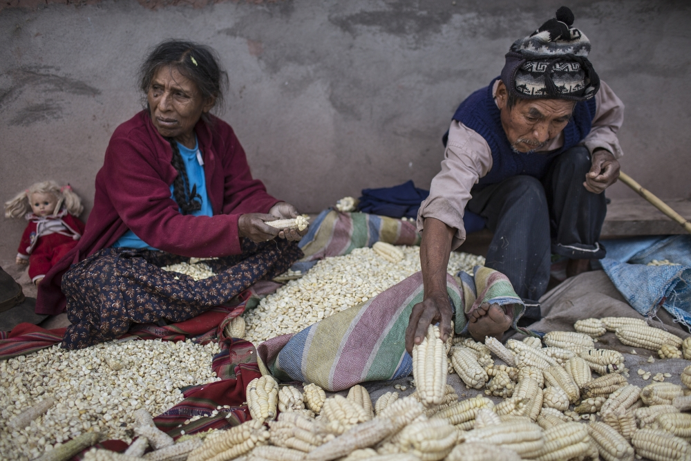 Daily life in the Sacred Valley, near Pisa in the Cusco region, Peru, on Friday, May 22, 2015